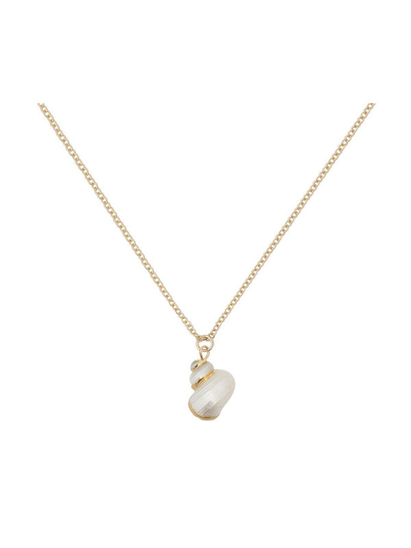 Bobby Rose Golden Shell Necklace Gold