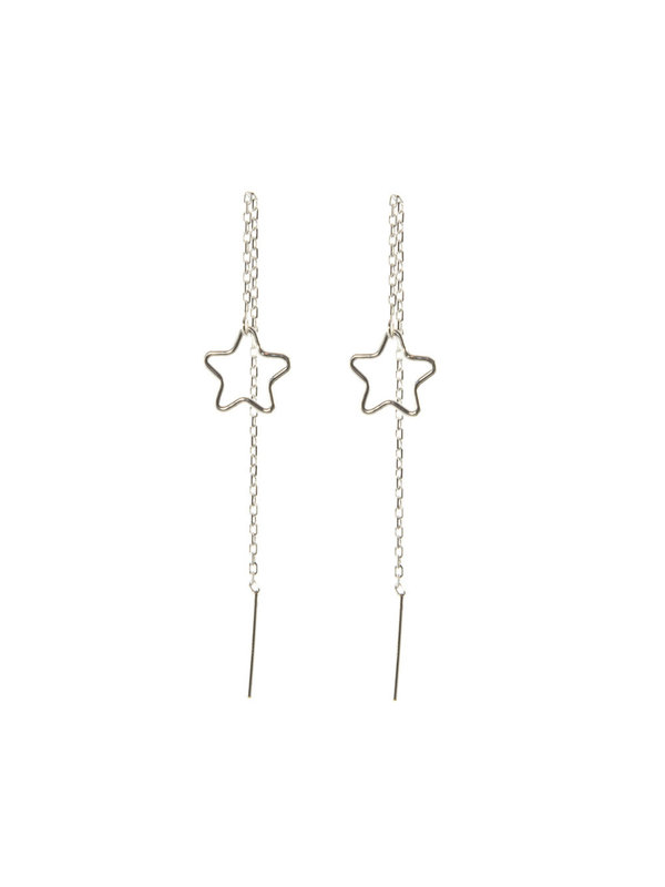Blinckstar Earring Earthreader Star Silver