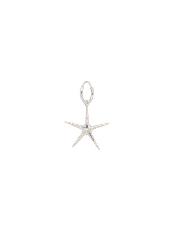 Anna + Nina Single Starfish Ring Earring Silver