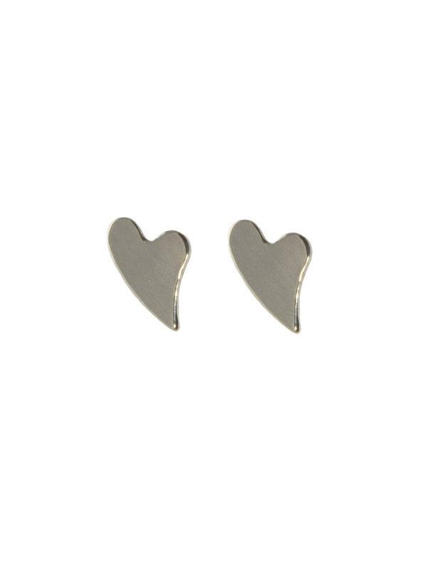 Blinckstar Earring Stud Heart Silver