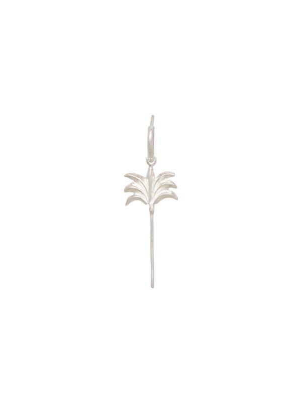 Anna + Nina Single Palmtree Ring Earring Silver