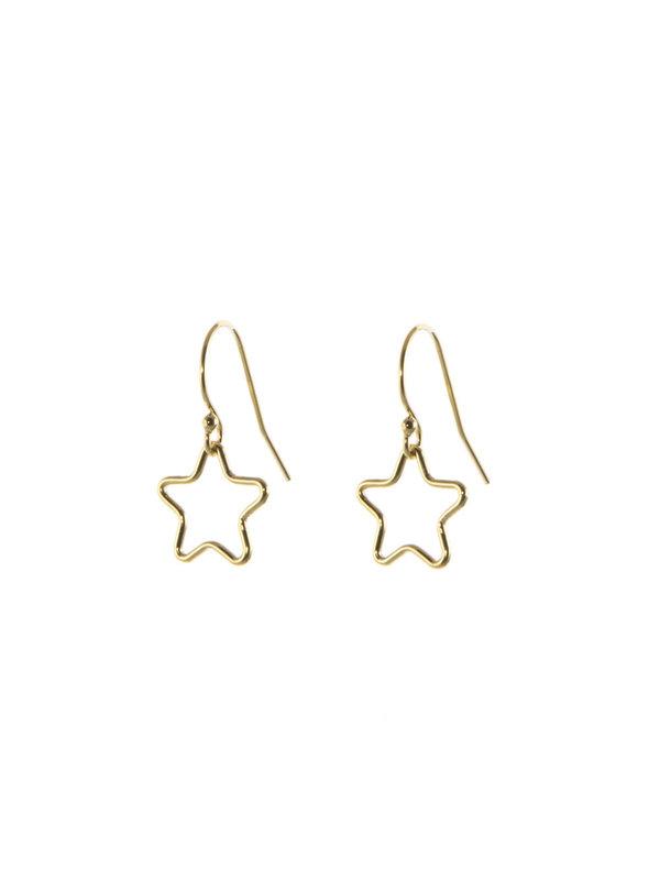 Blinckstar Earring Hook Open Star S Gold