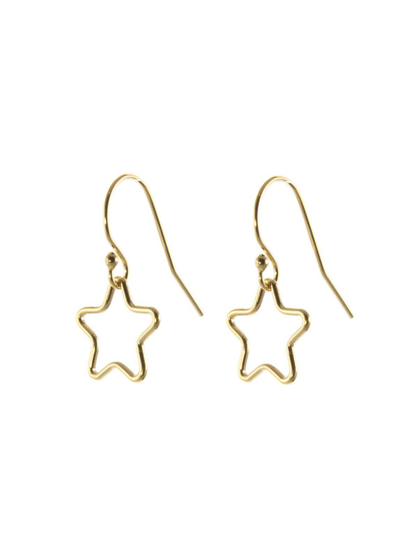Blinckstar Earring Hook Open Star M Gold
