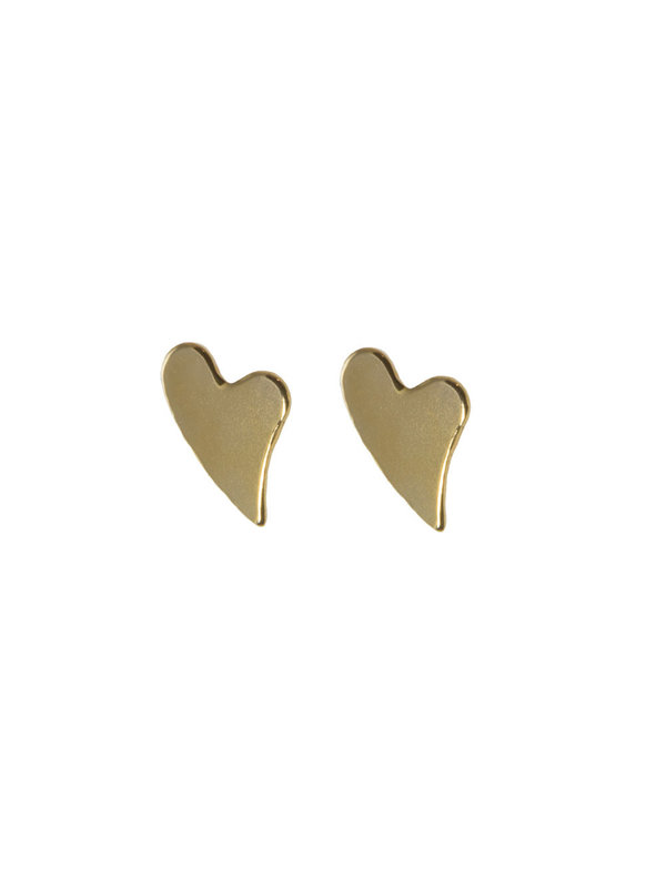 Blinckstar Earring Stud Heart Gold