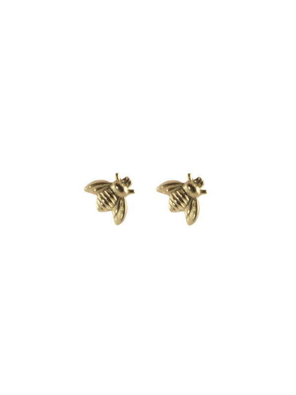 Blinckstar Earring Stud Bee Gold