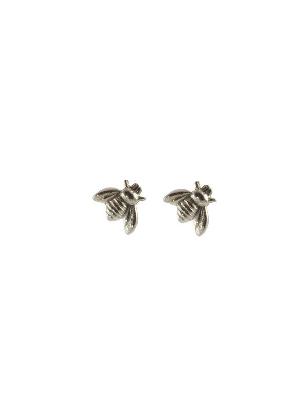 Blinckstar Earring Stud Bee Silver