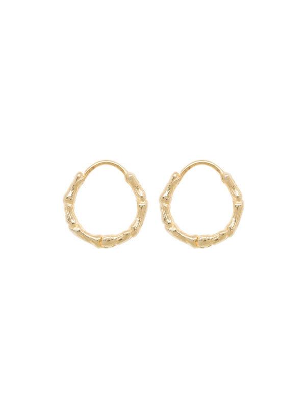 Anna + Nina Bones Ring Earring Gold
