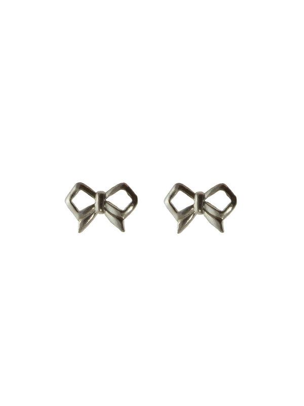 Blinckstar Earring Stud Bow Silver