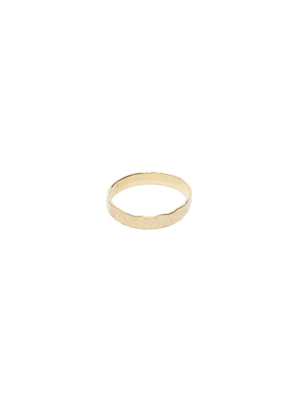 Bobby Rose Hammered Ring Gold