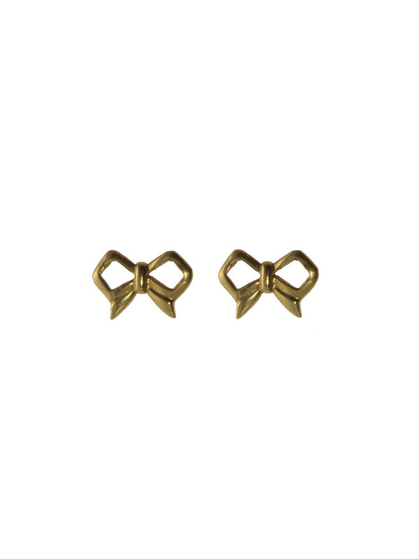 Blinckstar Earring Stud Bow Gold
