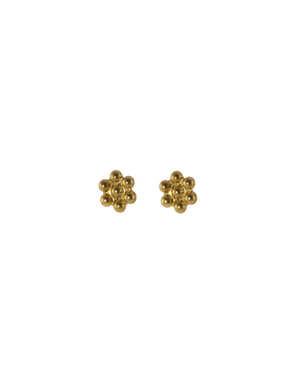 Blinckstar Earring Stud Flower Gold