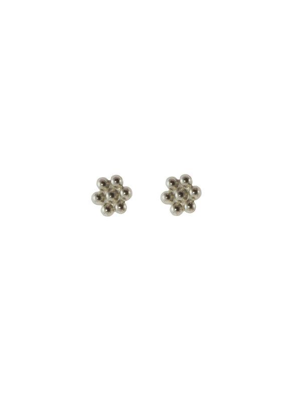 Blinckstar Earring Stud Flower Silver