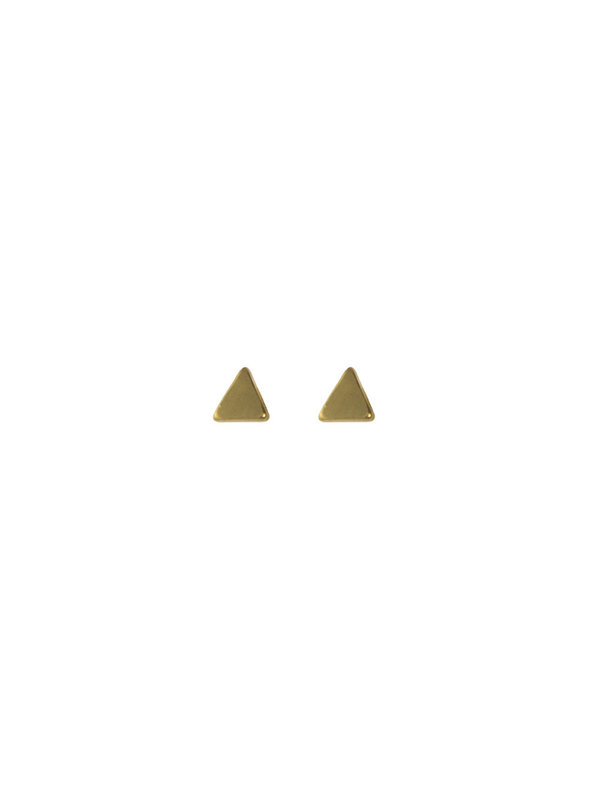 Blinckstar Earring Stud Mini Triangle Gold