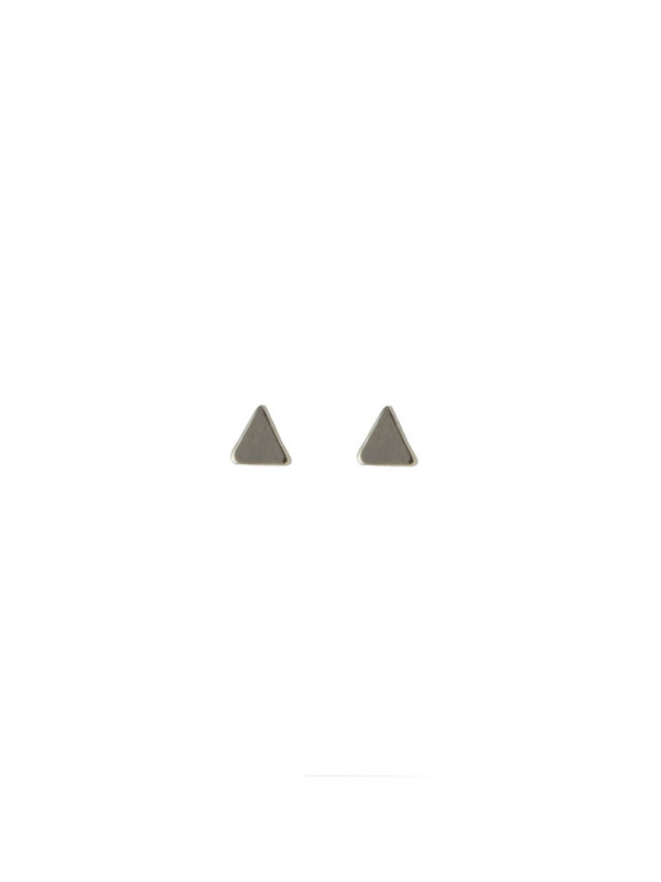 Blinckstar Earring Stud Mini Triangle Silver