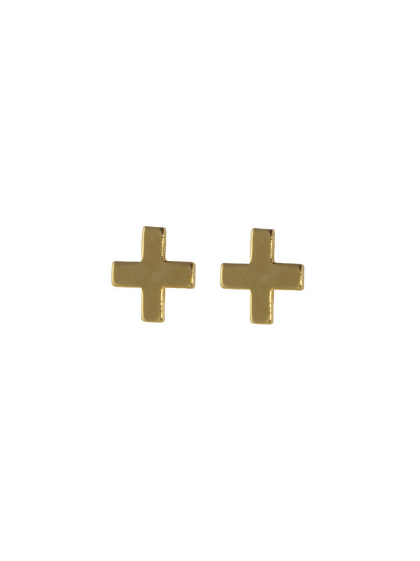 Blinckstar Earring Stud Cross Gold