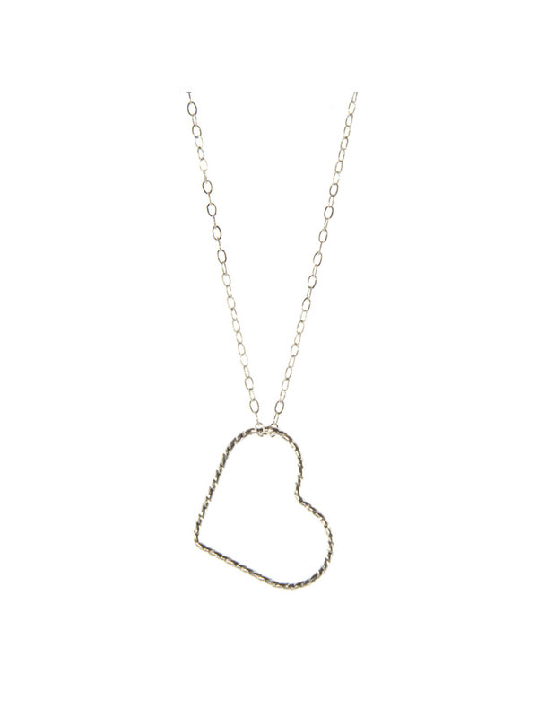 Blinckstar Necklace Glitter Heart Silver