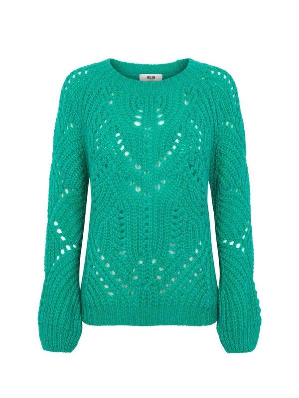 Moliin Fernel Knit Sweater Fresh Green