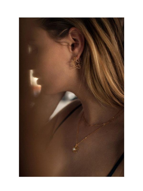 Bobby Rose Swarovski Clip Earring White