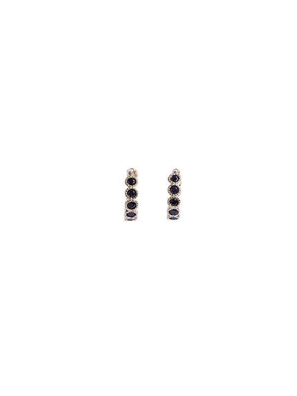 Bobby Rose Swarovski Clip Earring Black