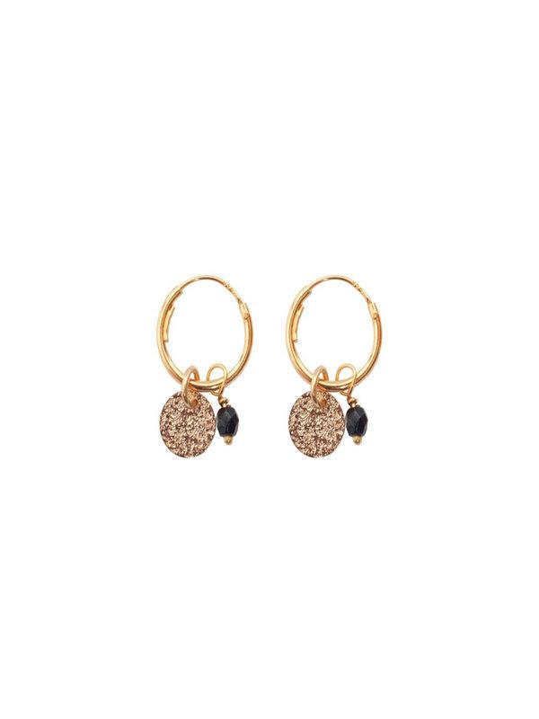 Bobby Rose Glitter Onyx Earring