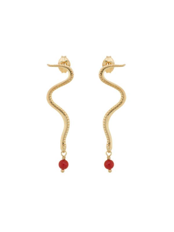 Anna + Nina Serpent Earring Gold
