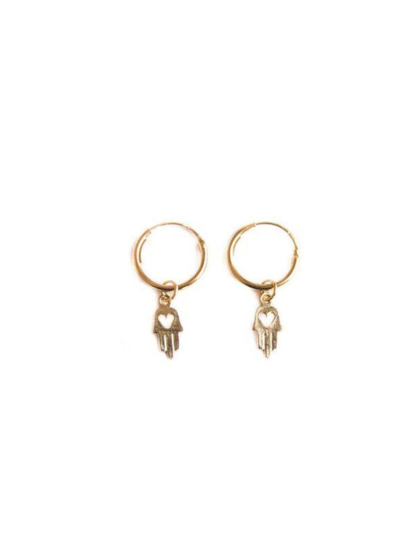 Bobby Rose Love Hamsa earring