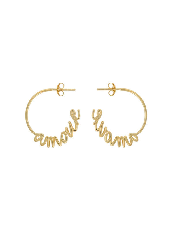 Amour Hoop Earring Gold