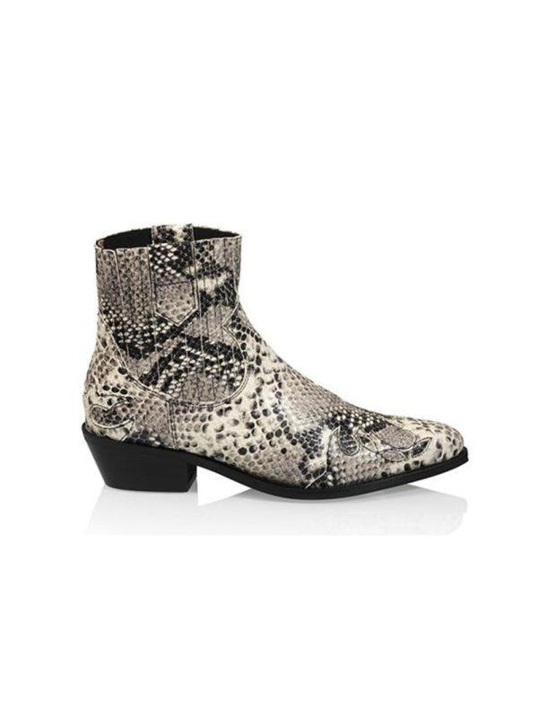 DWRS Austin Boots Snake Black White