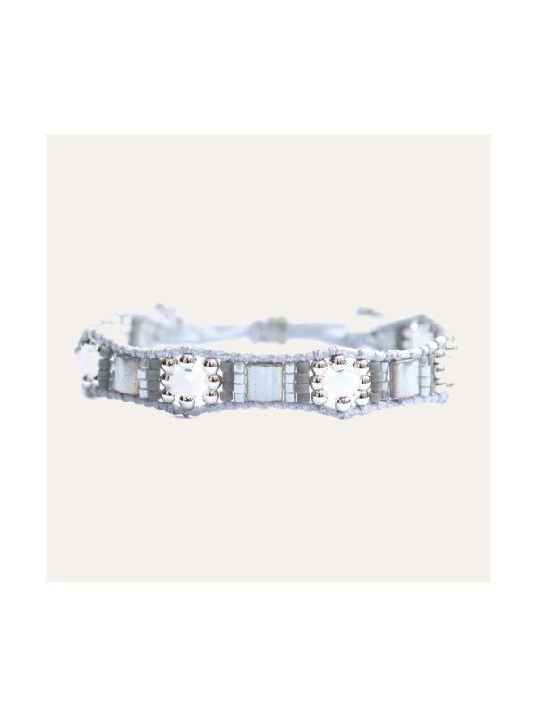 Lobi Beads Armband Miyuki Zilver