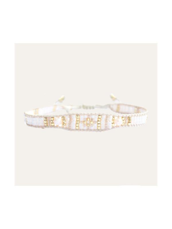 Lobibeads Armband Miyuki Beige