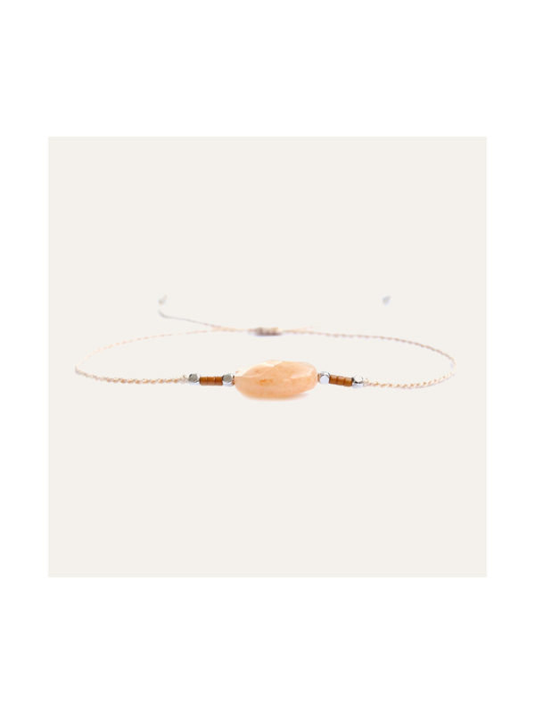 Lobi Beads Armband Peach Edelsteen