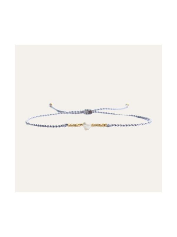 Lobi Beads Armband Parel Wit Goud
