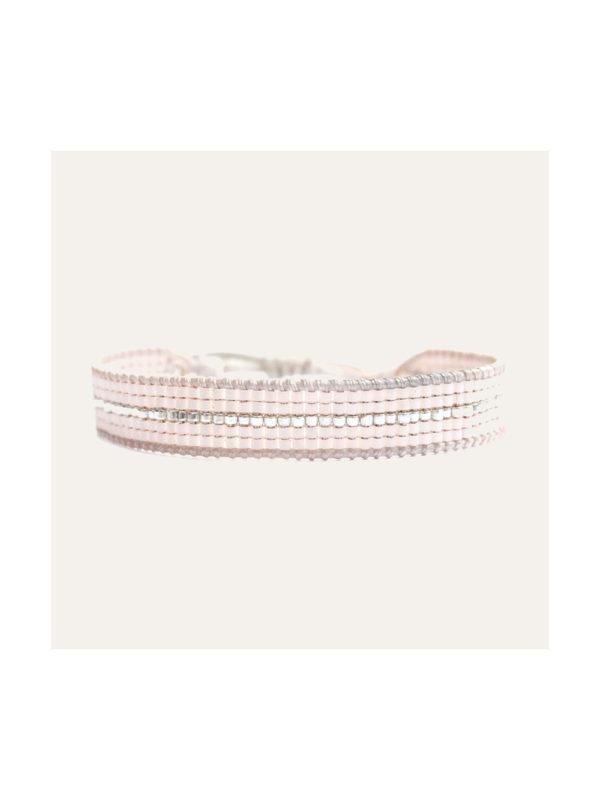 Lobi Beads Armband Miyuki Roze Zilver