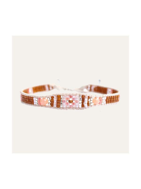 Lobi Beads Armband Glaskralen Peach
