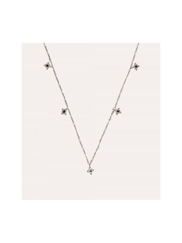 Lobi Beads Ketting Choker Hangers Zilver