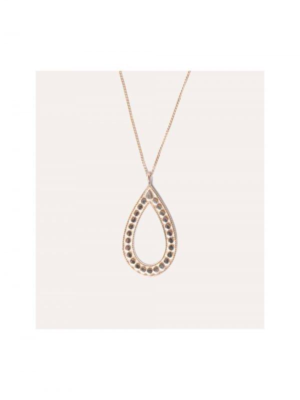 Lobi Beads Ketting Hanger Ovaal Goud