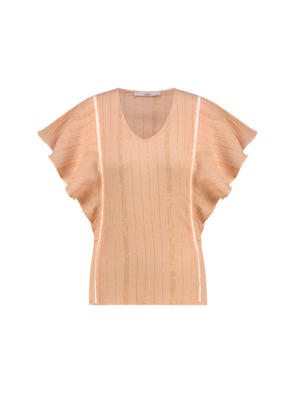 Benton Lurex Top Apricot