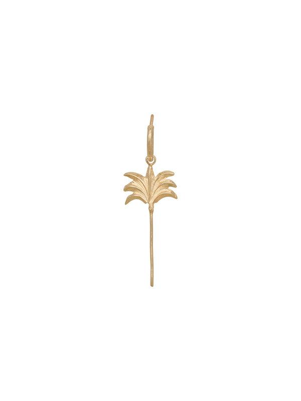 Anna + Nina Anna + Nina Single Palmtree Ring Earring Gold