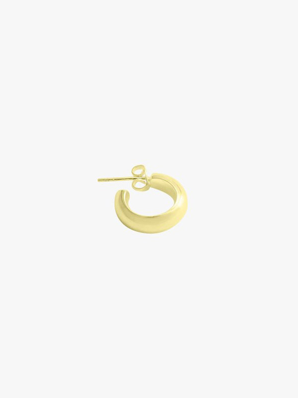 Wildthings Wide Hoop Earring Gold