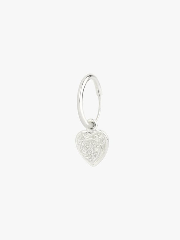 Wildthings Heart Hoop Silver