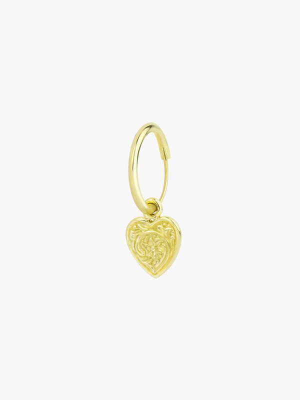 Wildthings Heart Hoop Gold