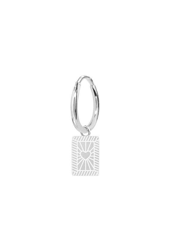My Jewellery Custom Earring Heart Silver
