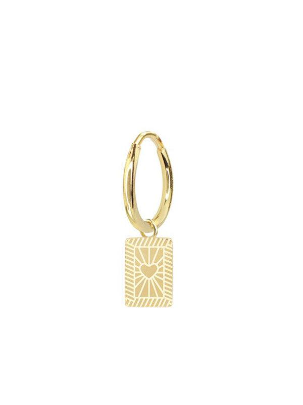 My Jewellery Custom Earring Heart Gold