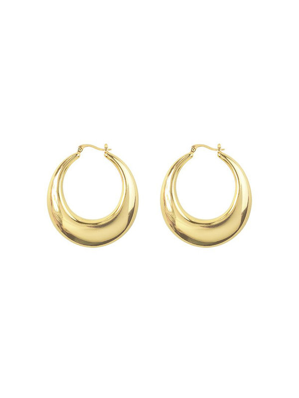 My Jewellery 70's Statement Hoops Gold