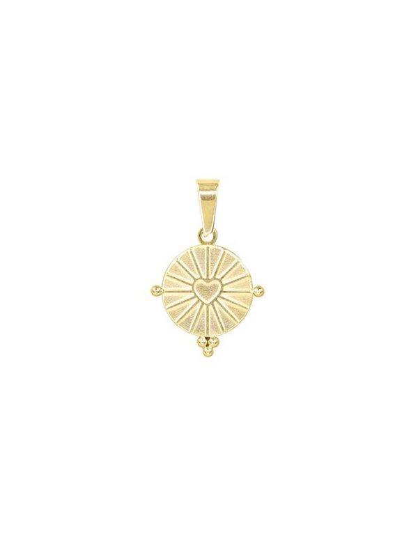 My Jewellery Round Heart Charm Gold