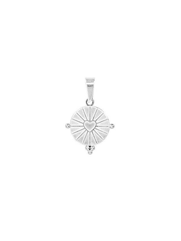 My Jewellery Round Heart Charm Silver