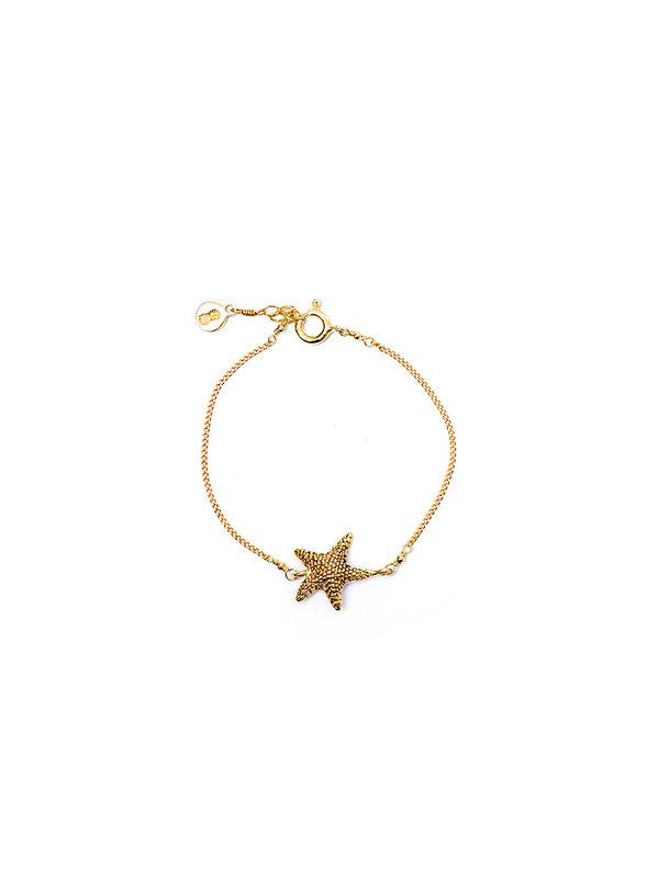 Pineapple Guitar Starfish Bracelet Gold