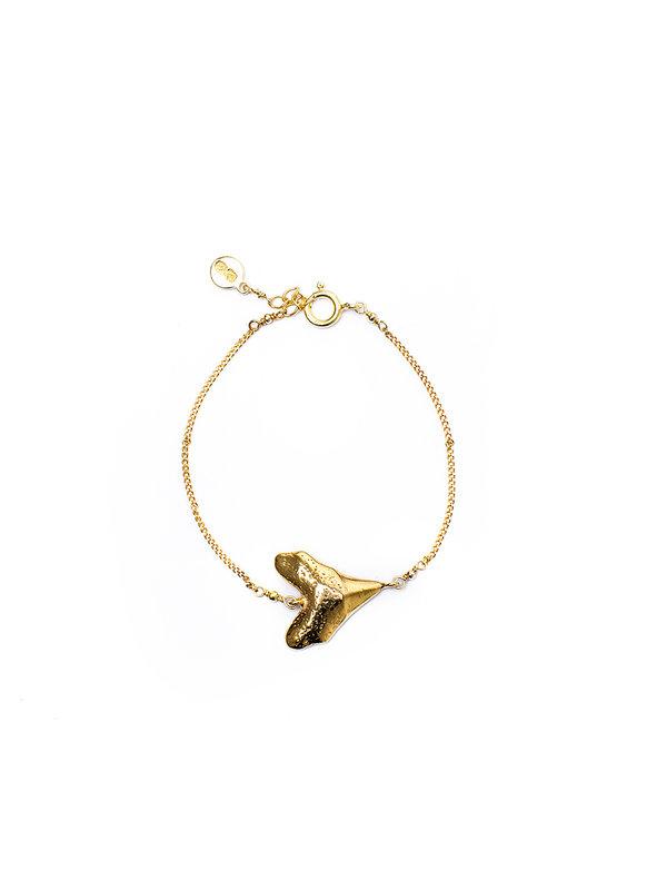 Pineapple Guitar Heart Bracelet Gold