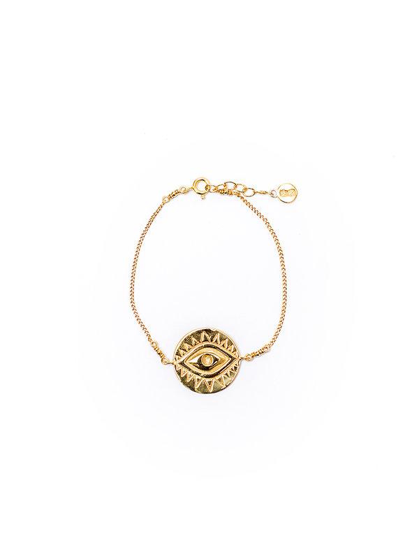 Pineapple Guitar Eye Bracelet Gold
