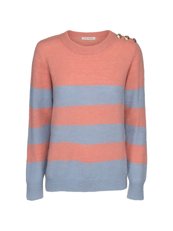 Sofie Schnoor Knit Sweater Stripes Pink/Blue